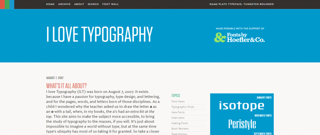 I love Typography - Graphic Design Blogs